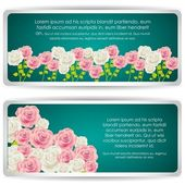 Card with colorful roses — Stock Vector