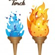 Olympic torch - Image vectorielle