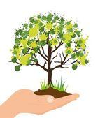 Ecological illustration — Stock Vector