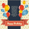 Birthday card — Vettoriali Stock