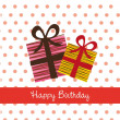 Stock Vector: Birthday card