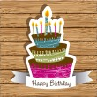 Birthday card — Vector de stock