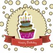 Birthday card — Stock Vector