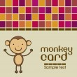 Stock Vector: Cute monkey card