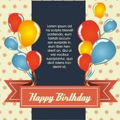 Birthday card — Vetor de Stock