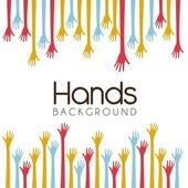 Hands background — Stock Vector