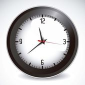 Ilustración de reloj — Vector de stock