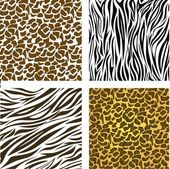 Pattern of animal print — Stock Vector