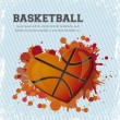 coeur de basket-ball — Vecteur