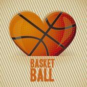 Basketball heart — Stock Vector