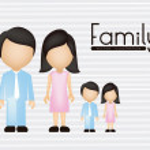 Family illustration — Stock Vector