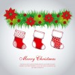 Christmas stockings — Image vectorielle