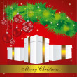 Royalty-Free Stock ベクターイメージ: Illustration of mistletoe with gifts