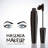 Mascara illustration — Stock Vector
