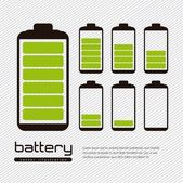 Battery load — Stock Vector