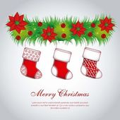 Christmas stockings — Stock Vector