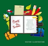 Illustration back to school — Stockvector
