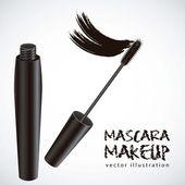 Mascara illustration — Stock Vector