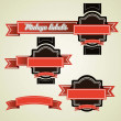 Illustration of vintage labels - Stock Vector