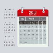 Calendar 2013 — Vetor de Stock