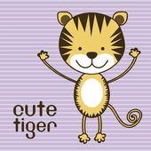 Cute tiger — Stock Vector