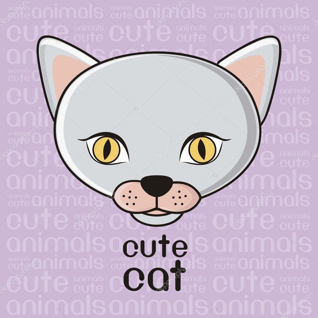 可爱猫咪 — 图库矢量图像08