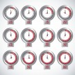 Illustration of timers — Image vectorielle