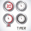 Illustration of timers — Stock Vector