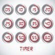 Vector de stock : Illustration of timers