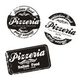 Pizzeria labels — Stock Vector