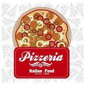 Vintage pizzeria label — Stock Vector