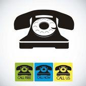 Rotary phone — Stock Vector