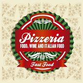 Vintage pizzeria label — Stock Vector