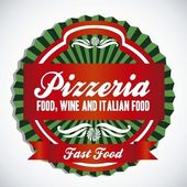 Pizzeria label — Stock Vector