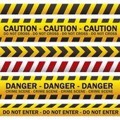 Polizei-sicherheitsbänder — Stockvektor
