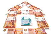 Banknotes building — Stock Photo