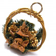 Stock Photo: Christmas decorative basket