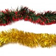Stock Photo: Two tinsel fragments