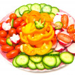 Fresh vegetables on a plate — Stock Photo