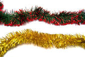 Two tinsel fragments — Stock Photo