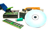 Cd-rom and other computer Hardware — Stock Photo