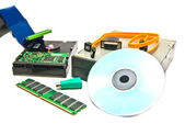 Different computer Hardware close-up — Stock Photo
