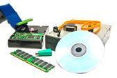 Různé počítače hardwaru detail — Stock fotografie