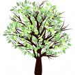 Tree with green leaf — Vector de stock #11069413
