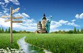 Tourism around the world — 图库照片