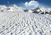 Mountain landscape with snow — Stock Photo