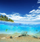 Tropical island beach — Stock Photo