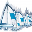 Sailing boats — Stock Vector #11778051