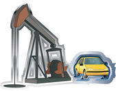 Oil and car — Stock Vector