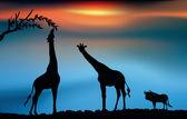 Savana africana — Vettoriale Stock